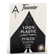 Fournier Poker Plastic - Jumbo : Noir