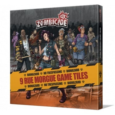Zombicide : 9 Rue Morgue Game Tiles