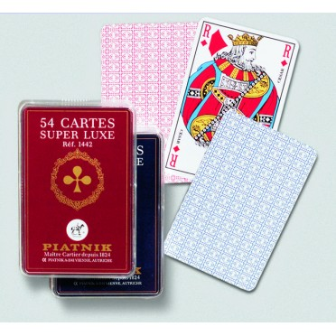 54 Cartes Super Luxe - rouge