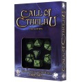 Set de 7 Dés Call of Cthulhu 7th Edition Noir / Vert 0