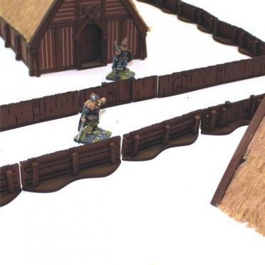 Palissades nordiques avec portes
