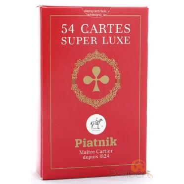 54 Cartes Etui Carton - Rouge