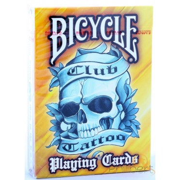 Club Tattoo - Orange - jeux de 54 Cartes Bicycle
