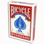 Recto / Verso Blanc - Standard - Rouge - Bicycle - 54 Cartes Spéciales Magie