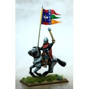 Bannière de guerre normande et porteur