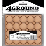 Socles 25mm ronds (x60)