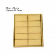 Socles 25x50mm (x20)