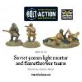 Bolt Action - Soviet 50mm light mortar and Flamethrower teams 1