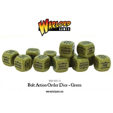 Bolt Action - Bolt Action Orders Dice packs - Green
