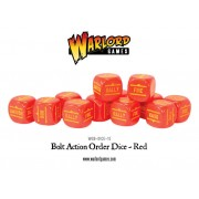 Bolt Action - Bolt Action Orders Dice packs - Red
