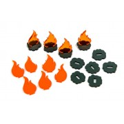 Smoke and Fire Tokens - Flash Point