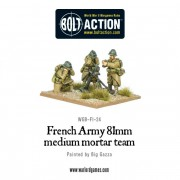 Bolt Action - French - 81mm medium mortar team