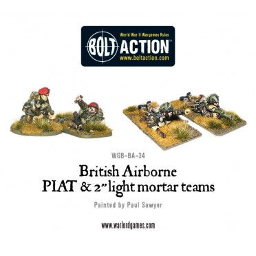 Bolt Action - British - Airborne PIAT and Light Mortar teams