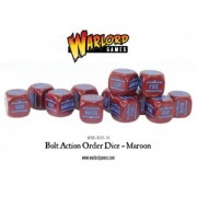 Bolt Action - Bolt Action Orders Dice packs - Maroon