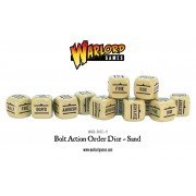 Bolt Action - Bolt Action Orders Dice Packs - Sand