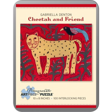 Puzzle - Cheetah and Friend de Gabriella Denton - 100 Pièces