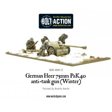 Bolt Action - Heer 75mm Pak 40 anti-tank gun (Winter)