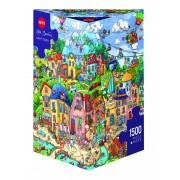 Puzzle - Happytown de Rita Berman - 1500 Pièces