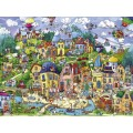 Puzzle - Happytown de Rita Berman - 1500 Pièces 1