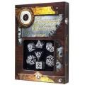 Set de 7 Dés JDR - Steampunk Clockwork - Noir/Blanc 1