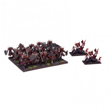 Kings of War - Régiment d'Abyssaux mineurs / Porte-flammes