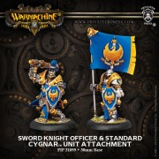 Sword Knight Officer & Standard pas cher