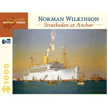 Puzzle - Stratheden at Anchor de Norman Wilkinson - 1000 Pièces