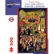 Puzzle - Out and About : Winter London de Molly Moss - 500 Pièces