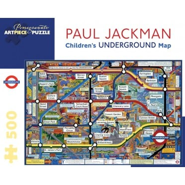 Puzzle - Children's Underground Map de Paul Jackman - 500 Pièces