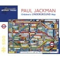 Puzzle - Children's Underground Map de Paul Jackman - 500 Pièces 0