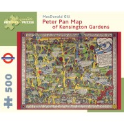 Puzzle - Peter Pan Map of Kensington Gardens de MacDonald Gil - 500 Pièces