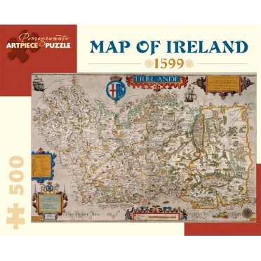 Puzzle - Map Of Ireland de Baptista Boazio - 500 pièces