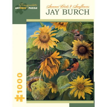 Puzzle - Summer Birds & Sunflowers de Jay Burch - 1000 Pièces