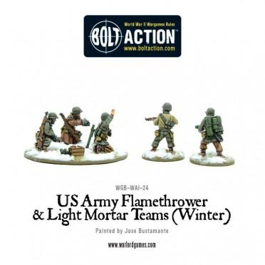 Bolt Action - US Army Flamethrower & Light Mortar teams (Winter)