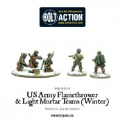Bolt Action - US Army Flamethrower & Light Mortar teams (Winter)