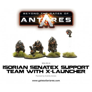 Beyond the Gates of Antares : Isorian Senatex support team with X-Launcher