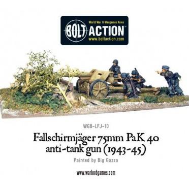 Bolt Action - German - Fallschirmjager 75mm PaK 40 Anti-Tank Gun (1943-45)