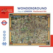 Puzzle - Wonderground Map of London de MacDonald Gill - 1000 Pièces