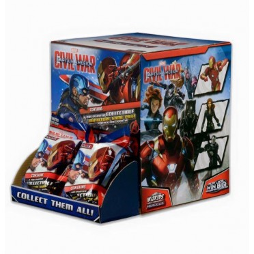 Heroclix - 24 Gravity Feed : Civil War Captain America (Anglais)