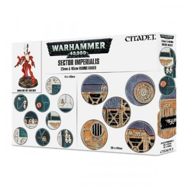 Citadel : Socles - Sector Imperialis 25 & 32mm Round Bases