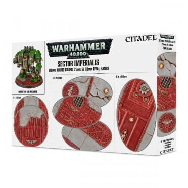 Citadel : Socles - Sector Imperialis 60mm Round Bases & 75/90mm Oval Bases
