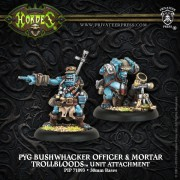 Hordes - Pyg Bushwhacker Officer & Mortar pas cher