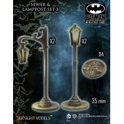 Batman - Sewer and Lamppost Set 3