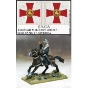Saga - Bannière de Guerre Templiers et Porteur