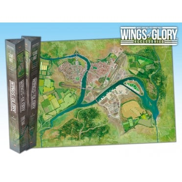 Terrain Mat Tissue - Wings of Glory : Game Mat Industrial Complex - 68x98