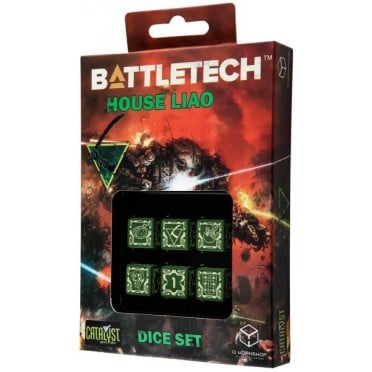 Dice Set D6 - Battletech House : Liao