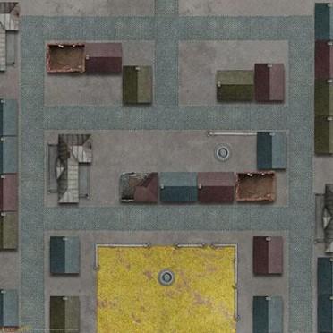 """Tanks - Caen Game Mat 36"""" x 36"""""""
