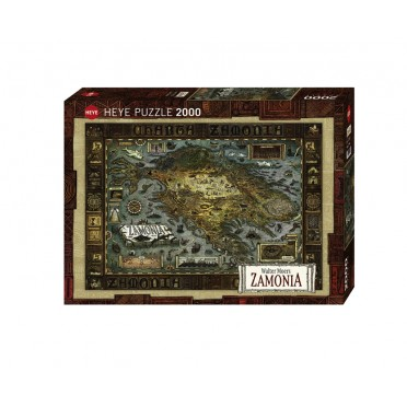 Puzzle - Map of Zamonia - 2000 Pièces