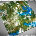 Terrain Mat Cloth - Orbital Earth - 120x120 0