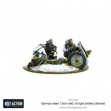 Bolt Action - German Heer 7.5cm leIG 18 Light Artillery (Winter)